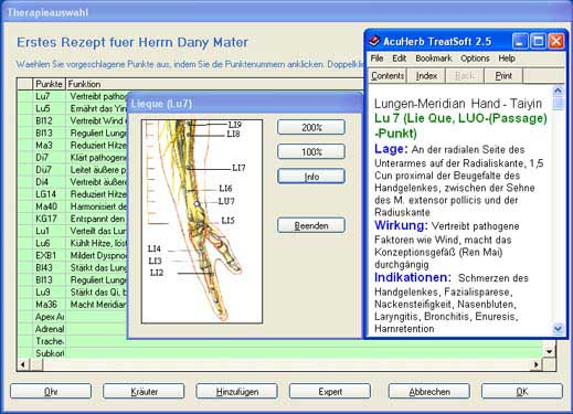 AcuHerb TreatSoft German screenshot